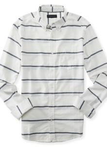 Long Sleeve Stripe Woven Shirt