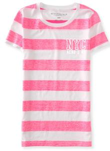 NYC Metallic Reverse-Stripe Graphic T