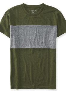 Heathered Block Tee