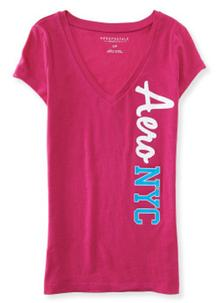 Aero NYC V-Neck Graphic T