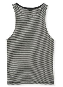Striped Ribbed Bodycon Tank